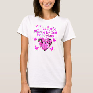 LOVELY PERSONALIZED PINK FLORAL DESIGN T-Shirt