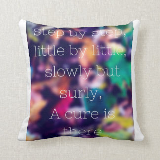 lovely pillow with an inspirational message