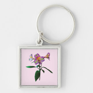 Lovely Pink Asiatic Lilies Keychain