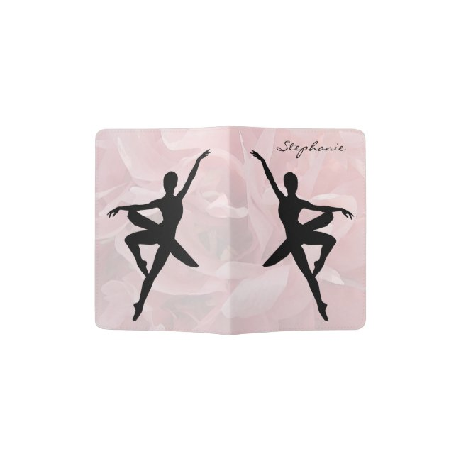 Lovely Pink Ballerina Passport Holder