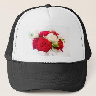 Lovely pink bouquet trucker hat