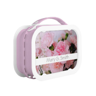 Lovely pink carnation flower photography. lunch box