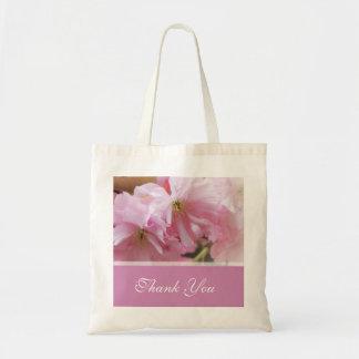 Lovely pink cherry blossom  spring wedding favor budget tote bag