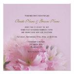 Lovely pink cherry blossom spring wedding personalized announcement