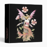Lovely Pink Fairy and Flowers Binder