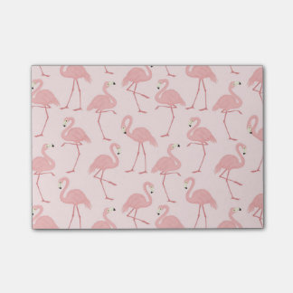 Lovely Pink Flamingo Parade Post-it Notes