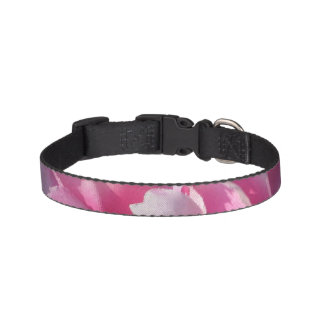 Lovely pink flower dog collar