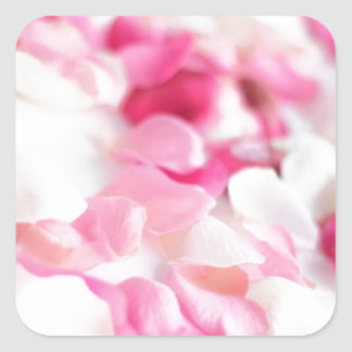 Lovely Pink Flowers Square Sticker