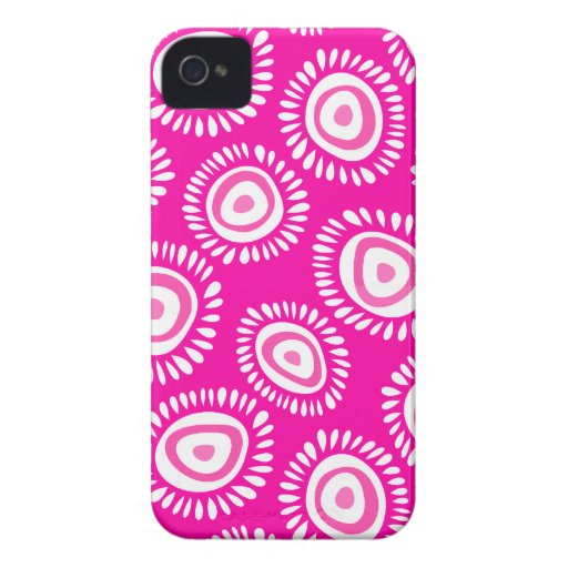 Lovely pink funky flowers 4/4S Case iPhone 4 Cover