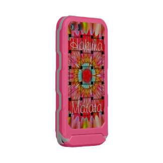 Lovely Pink Gray Hakuna Matata Waterproof Case For iPhone SE/5/5s