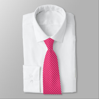 Lovely pink Hearts as dots Tie