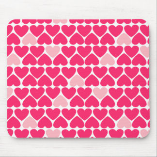 Lovely Pink Hearts Mouse Pads