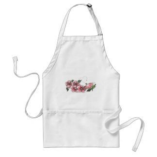 Lovely Pink Hibiscus Adult Apron