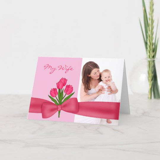 lovely pink husband to wife mother s day card zazzle com