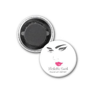 Lovely pink lips make up artist  branding magnet