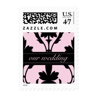 Lovely Pink Our Wedding Small Postage