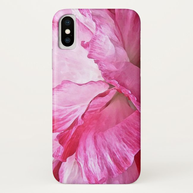 Lovely Pink Poppy Flower Abstract iPhone X Case
