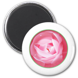 Lovely Pink Rose 2 Inch Round Magnet