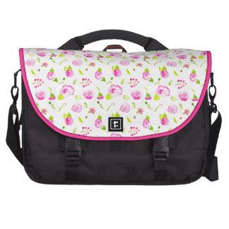 Lovely Pink Rose Pattern Laptop Commuter Bag