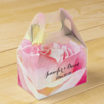 Lovely Pink Rose Wedding Gable Favor Box