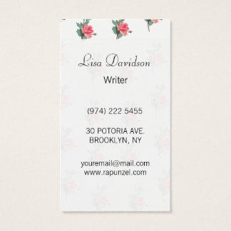 Lovely Pink Roses Business Card