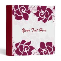 lovely pink roses floral binder