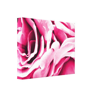 Lovely pink roses floral photo canvas print