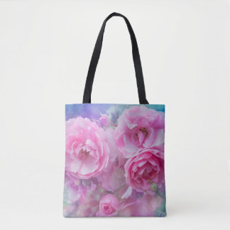 Lovely pink roses tote bag