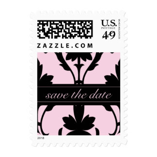 Lovely Pink Save The Date Small Postage
