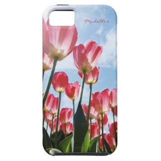 Lovely Pink Tulips and Cloudy Sky iPhone SE/5/5s Case