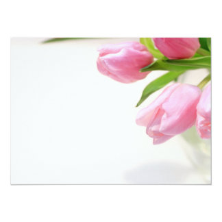 Lovely pink tulips card