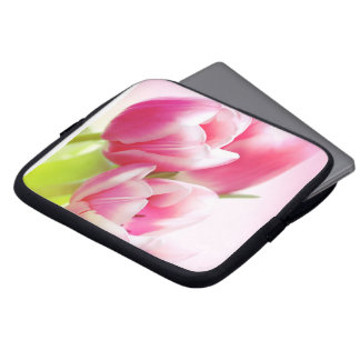 Lovely pink tulips laptop sleeves