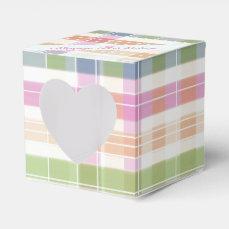 Lovely Plaid Heart Guest Favor Box