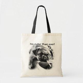Lovely Playfull Mops Tote Bag