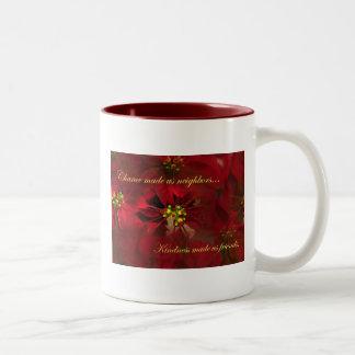 Lovely Poinsettia Neighbor Christmas Gift Mug