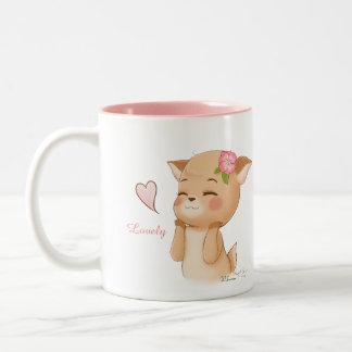 Lovely Pud Two-Tone Coffee Mug
