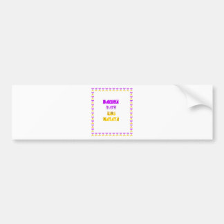 Lovely Purple and Yellow Hakuna Matata Baby Kids G Bumper Sticker