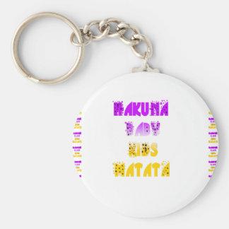 Lovely Purple and Yellow Hakuna Matata Baby Kids G Keychain