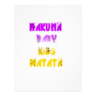 Lovely Purple and Yellow Hakuna Matata Baby Kids G Letterhead