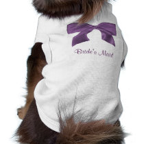 Lovely purple Bow doggie t-shirt