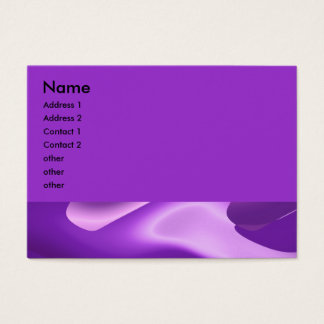 lovely purple business card