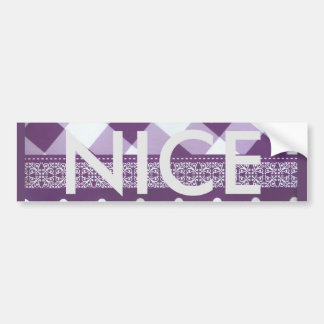 Lovely Purple checkered Damask Seamless Pattern Bumper Sticker