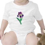 Lovely Purple Dutch Iris Baby Bodysuits