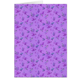 Lovely Purple Floral Greeting Card
