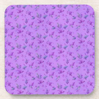 Lovely Purple Floral Beverage Coasters