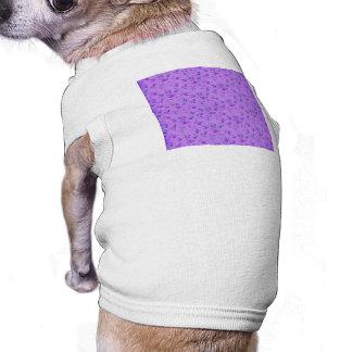 Lovely Purple Floral Pet T Shirt