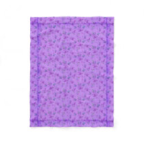 Lovely Purple Floral Fleece Blanket
