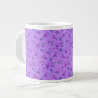Lovely Purple Floral Giant Coffee Mug