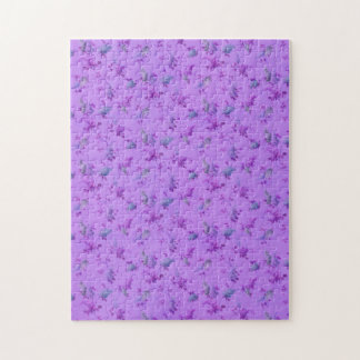 Lovely Purple Floral Jigsaw Puzzle