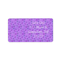 Lovely Purple Floral Label